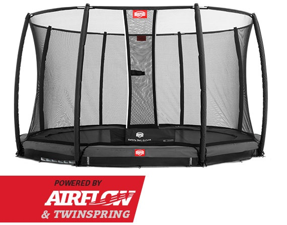 Berg Inground Champion 380 Grijs + Safety Net Deluxe