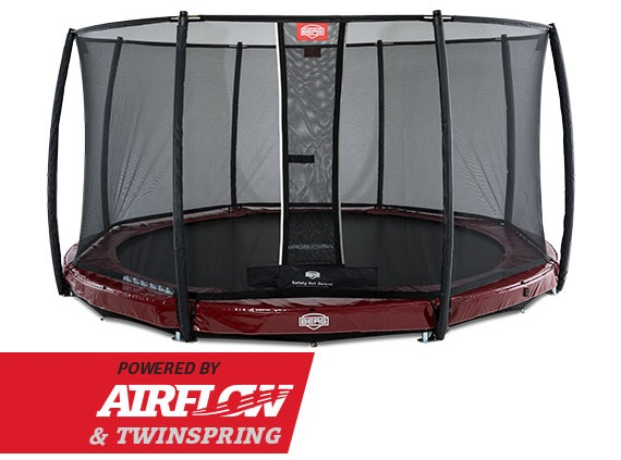 Berg InGround Elite 430 Rood + Safety Net Deluxe