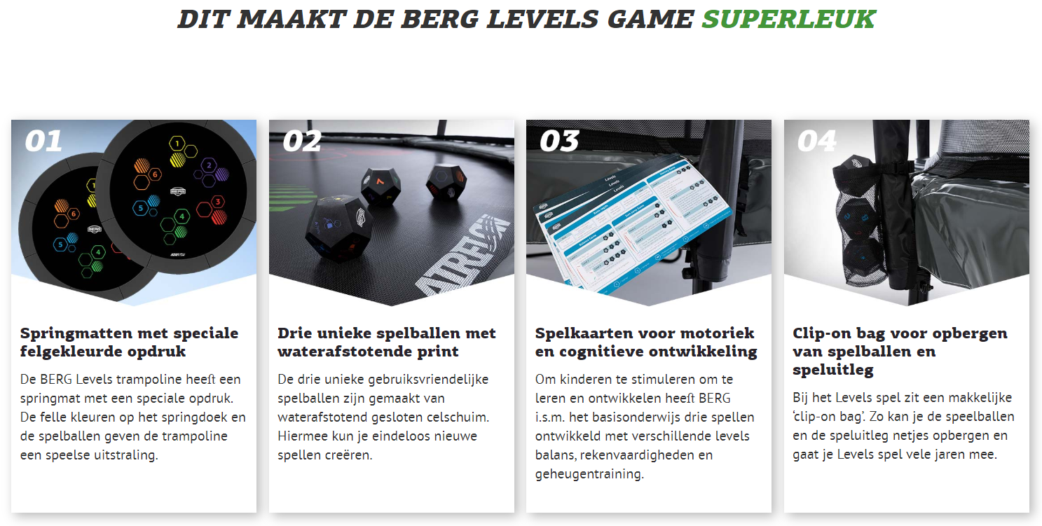 Berg Favorit 430 Levels Grijs + Safety Net Comfort