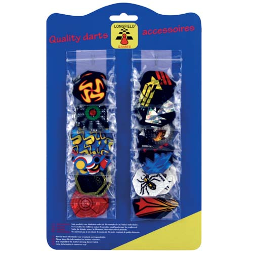 Dartflights 12 sets blister